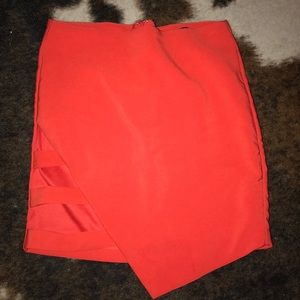 Forever 21 bright red skirt